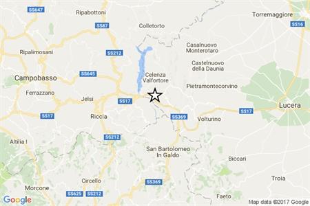 Terremoto di 3.4 tra Lucera e Campobasso